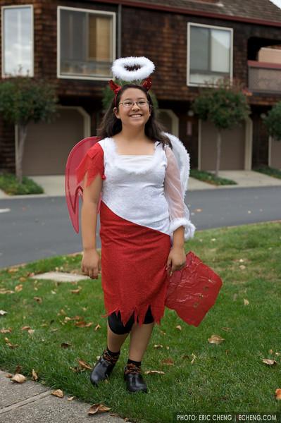 Isabella, on Halloween