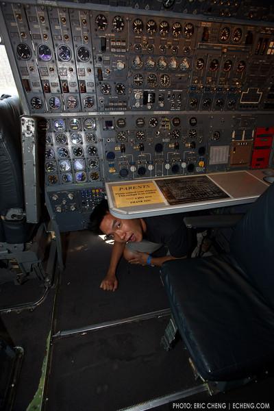 Kids will be kids. Hiller Aviation Museum in San Carlos, CA (photo: Laurel Stewart)