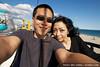 Me and Hitomi at the skyway ride at the Santa Cruz Boardwalk