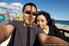 Me and Hitomi at the skyway ride at the Santa Cruz Boardwalk