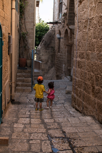 Ilan and Yael bonding in Old Jaffa