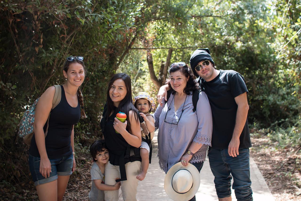 Tel Dan with Sandra, Anda, and Daniel Wexler