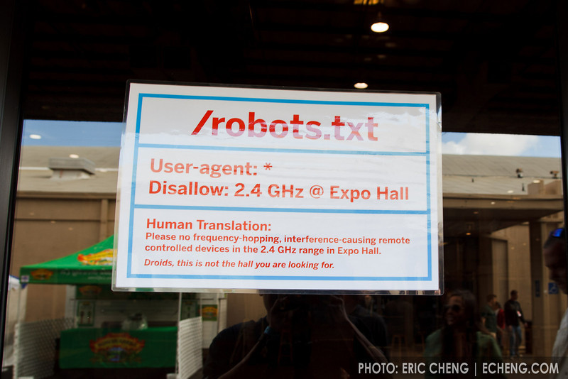 Maker Faire robots.txt disallows 2.4 Ghz broadcasting