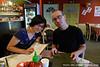 Wendy and Jake at yummy Korean / Chinese food