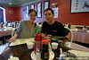 Pam and me at yummy Korean / Chinese food