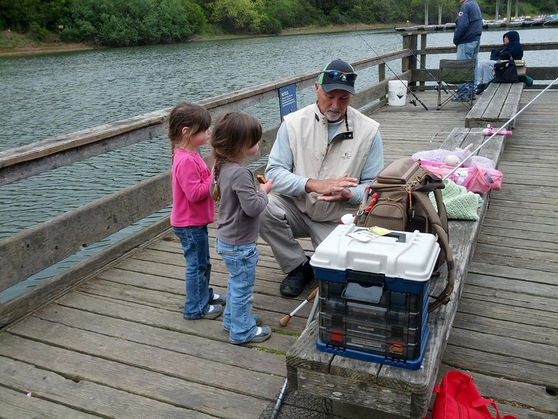 Learning to tie lures with grandpa Doug