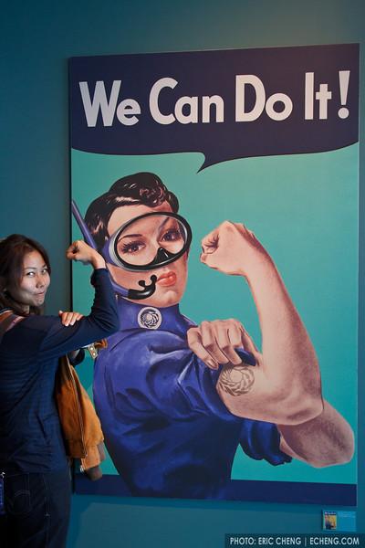 We (snorkelers) can do it! Monterey Bay Aquarium