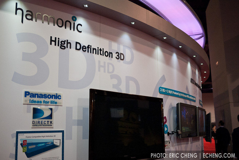 Harmonic's High Definition 3D demonstration: 3D coming over DirecTV to a Panasonic 3D display