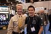 John Ellerbrock of Gates Underwater Housings, and me (photo: Victor A)