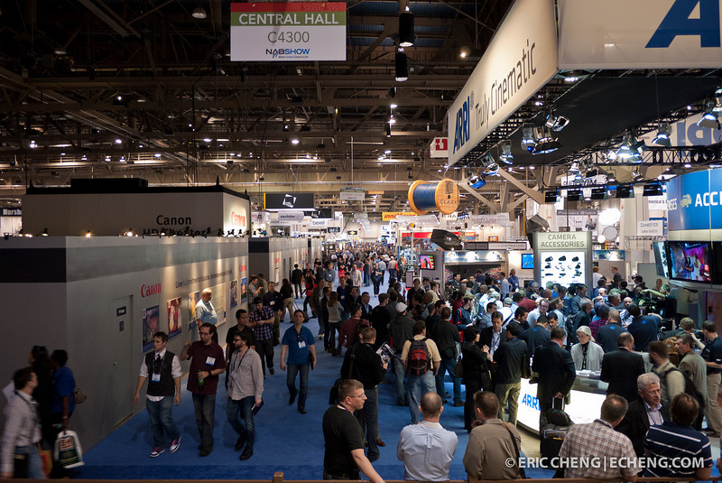 The NAB show floor was crowded!