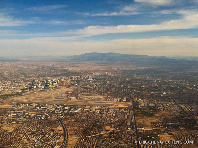 Las Vegas, from the air