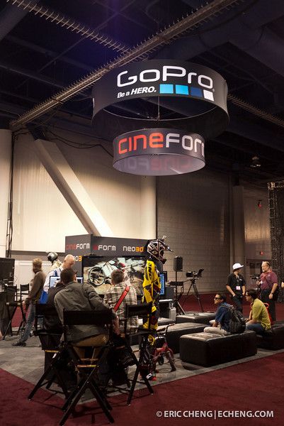 Cineform's booth was rebranded as a result of their recent acquisition by GoPro