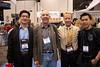 Masa Yabumoto, Pete Romano (CEO, Hydroflex), John Ellerbrock (CEO, Gates Housings), and Eric Cheng at NAB Show 2011