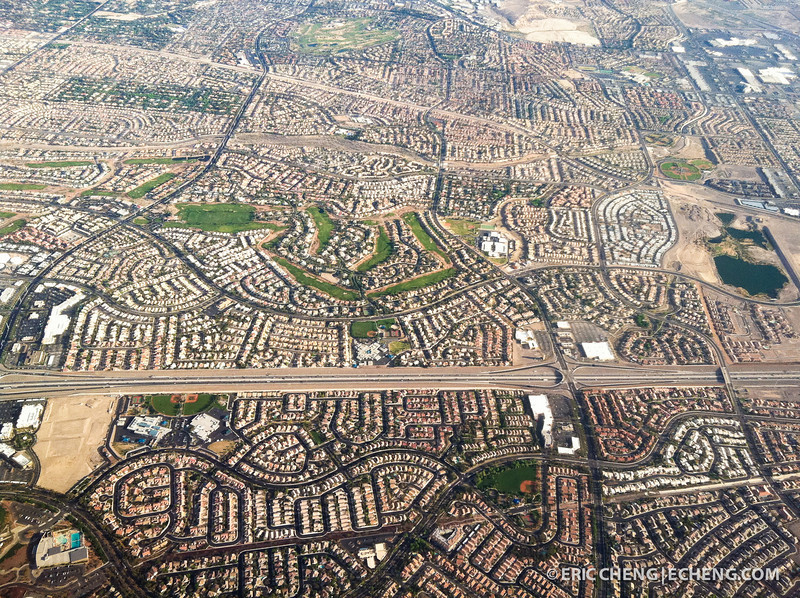 Winding tract housing, Las Vegas