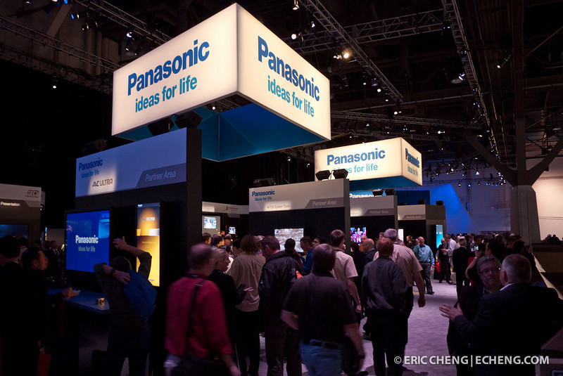 Panasonic booth, NAB Show 2011