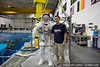 Hanging out with an astronaut at the NASA Neutral Buoyancy Lab (photo: Joe Holley)