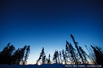 Dusk sky, just outside of Fairbanks, Alaska