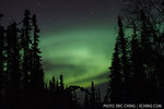 The aurora borealis (northern lights) just outside of Fairbanks, Alaska. March 22, 2012.