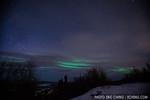 Northern lights (aurora borealis) at Chatanika Peak, just north of Fairbanks, Alaska.