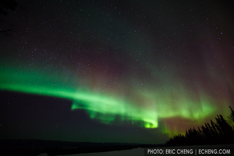 Super-bright northern lights. March 22, 2012. Fairbanks, Alaska.