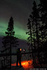Photographer Julian Cohen takes pictures of the northern lights. Fairbanks, Alaska.