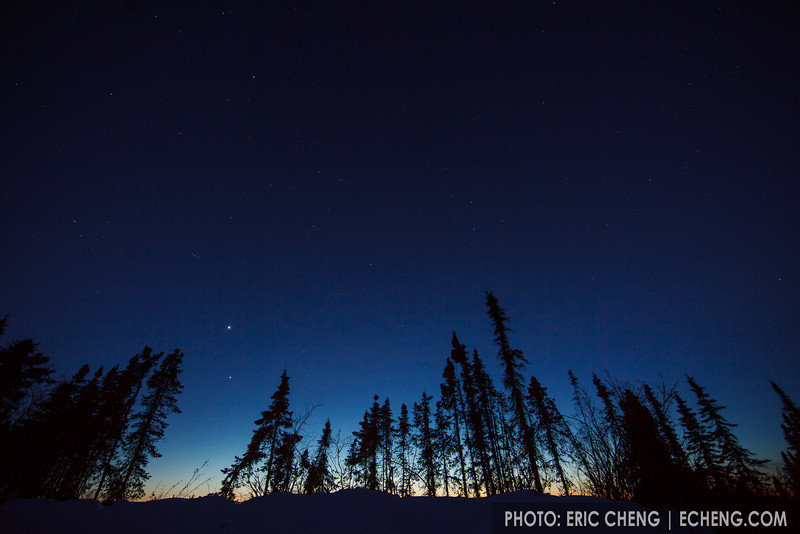 Dusk sky, just outside of Fairbanks, Alaska