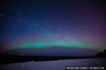 The northern lights (aurora borealis) in Fairbanks, Alaska.