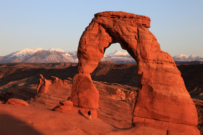 "FRIDAY, APRIL 17, 2009<br /> <br /> UTAH 0624<br /> <br /> ""Sunset, Delicate Arch""<br /> <br /> Camera: Canon EOS 5D Mark II<br /> Lens: Canon EF 24-105mm<br /> Focal length: 82mm<br /> Shutter speed: 1/60<br /> Aperture: f/16<br /> ISO: 400"