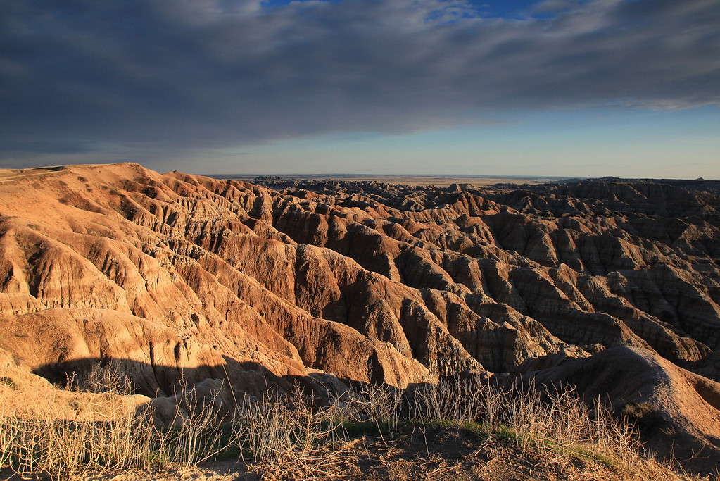 "MONDAY, APRIL 20, 2009<br /> <br /> SOUTH DAKOTA 0755<br /> <br /> ""Afternoon in the Badlands""<br /> <br /> Camera: Canon EOS 5D Mark II<br /> Lens: Canon EF 24-105mm<br /> Focal length: 24mm<br /> Shutter speed: 1/60<br /> Aperture: f/16<br /> ISO: 400"