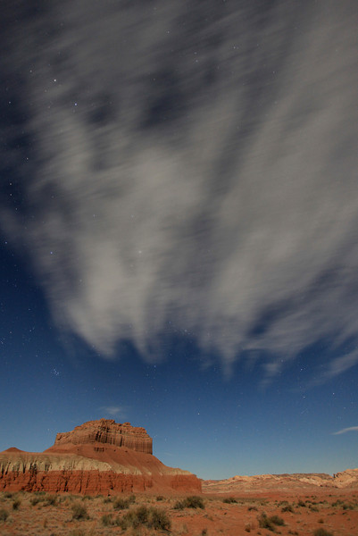 "TUESDAY, APRIL 7, 2009<br /> <br /> UTAH 8840<br /> <br /> ""Moonlit night in the Utah desert""<br /> <br /> Camera: Canon EOS 5D Mark II<br /> Lens: Canon EF 17-40mm<br /> Focal length: 17mm<br /> Shutter speed: 25 seconds<br /> Aperture: f/4<br /> ISO: 800"