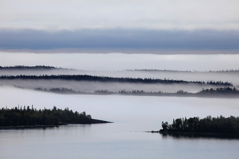"SATURDAY, AUGUST 21, 2010<br /> <br /> SUPERIOR SUMMER 9584<br /> <br /> ""August Fog, Susie Islands""<br /> <br /> This was the view of the Susie Islands on my way to work today. The fog was spectacular! I couldn't resist this scene, I just had to pull over and take a few pictures!<br /> <br /> Camera: Canon EOS 5D Mark II<br /> Lens: Canon EF 100-400mm<br /> Focal length: 330mm<br /> Shutter speed: 1/1000<br /> Aperture: f/11<br /> ISO: 200"