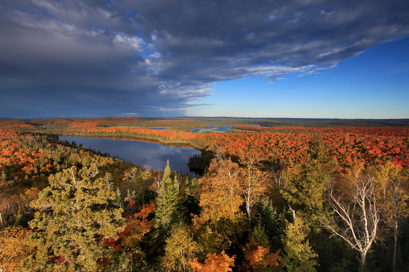 """TUESDAY, SEPTEMBER 21, 2010<br /> <br /> AUTUMN 0531-2<br /> <br /> """"Autumn morning over Trout Lake and Swamp Lake""""<br /> <br /> Camera: Canon EOS 5D Mark II<br /> Lens: Canon EF 17-40mm<br /> Focal length: 17mm<br /> Shutter speed: 1/30<br /> Aperture: f/16<br /> ISO: 200"""