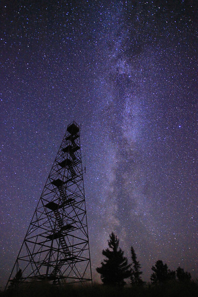 "THURSDAY, NOVEMBER 17, 2011<br /> <br /> MILKY WAY 1991<br /> <br /> ""Tower Galaxy""<br /> <br /> I haven't been doing much shooting so far this November, so lately I've been working on more photos that were taken earlier this fall. This particular photo was made on the night of September 4, 2011 at about 1:00 in the morning. The Milky Way was so bright that night it looked like it was jumping out of the sky at us.<br /> <br /> Camera: Canon EOS 5D Mark II<br /> Lens: Canon EF 17-40mm<br /> Focal length: 17mm<br /> Shutter speed: 40 seconds<br /> Aperture: f/4<br /> ISO: 6400"