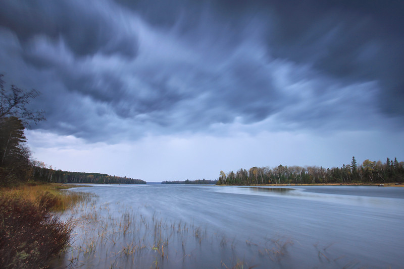 "THURSDAY, OCTOBER 13, 2011<br /> <br /> RIVERS 7330<br /> <br /> ""Autumn Storm, Kawishiwi River""<br /> <br /> Yesterday as I was driving home from Ely there were some of the coolest looking storm clouds I've ever seen moving along the Kawishiwi River. I couldn't resist stopping and making some photographs!<br /> <br /> Camera: Canon EOS 5D Mark II<br /> Lens: Canon EF 17-40mm<br /> Focal length: 17mm<br /> Shutter speed: 15 seconds<br /> Aperture: f/16<br /> ISO: 200"