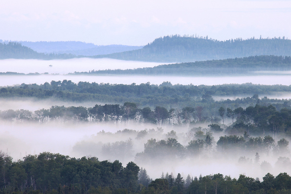 "WEDNESDAY, JULY 11, 2012<br /> <br /> FOREST 1312<br /> <br /> ""Early morning fog over the Pigeon River Valley""<br /> <br /> Another view of the incredible fog this morning. <br /> <br /> Camera: Canon EOS 5D Mark II<br /> Lens: Canon EF 100-400mm<br /> Focal length: 380mm<br /> Shutter speed: 1/13<br /> Aperture: f/16<br /> ISO: 400"
