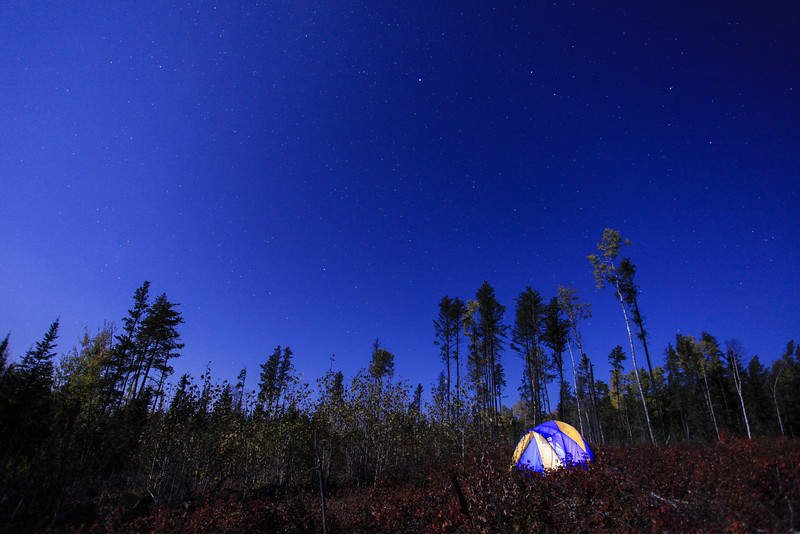 "FRIDAY, SEPTEMBER 28, 2012<br /> <br /> MOONLIGHT 7539<br /> <br /> ""Camping under the stars""<br /> <br /> Had a lot of fun last night helping my friend Bryan Hansel teach a night session for his fall color photography workshop  <a href=""http://www.bryanhansel.com/"">http://www.bryanhansel.com/</a>). It was a beautiful night with an almost-full moon and virtually nonexistent wind which was appreciated since the air temp was a balmy 35 degrees. I think a good time was had by all :-)  Here is one of the few photos that I took in between helping the workshop participants. <br /> <br /> Camera: Canon EOS 5D Mark II<br /> Lens: Canon EF 17-40mm<br /> Focal length: 17mm<br /> Shutter speed: 20 seconds<br /> Aperture: f/4<br /> ISO: 1000"
