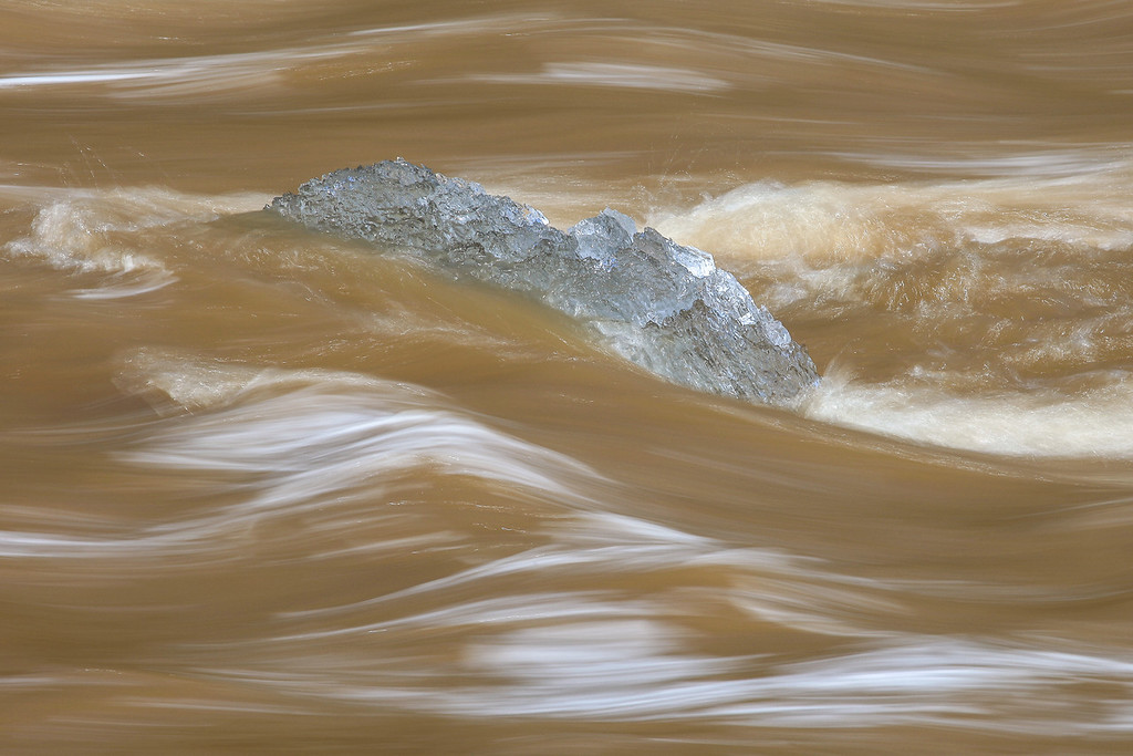 "MONDAY, APRIL 29, 2013<br /> <br /> ABSTRACT 2375<br /> <br /> ""Iceberg stuck in the Pigeon River""<br /> <br /> Camera: Canon EOS 5D Mark II<br /> Lens: Canon EF 100-400mm<br /> Focal length: 320mm<br /> Shutter speed: 1/6 sec<br /> Aperture: f/22<br /> ISO: 50"