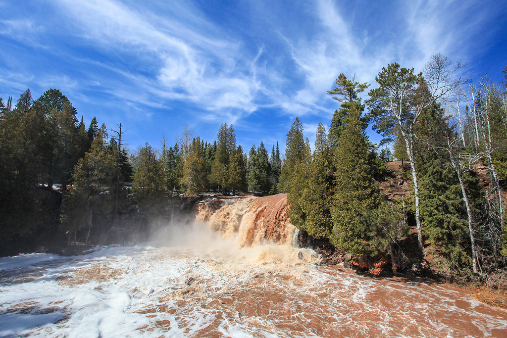 "WEDNESDAY, MAY 1, 2013<br /> <br /> GOOSEBERRY RIVER 2631<br /> <br /> ""Spring Flow, Upper Falls""<br /> <br /> Gooseberry Falls State Park, MN<br /> <br /> Camera: Canon EOS 5D Mark II<br /> Lens: Canon EF 17-40mm<br /> Focal length: 17mm<br /> Shutter speed: 1/160<br /> Aperture: f/16<br /> ISO: 800"