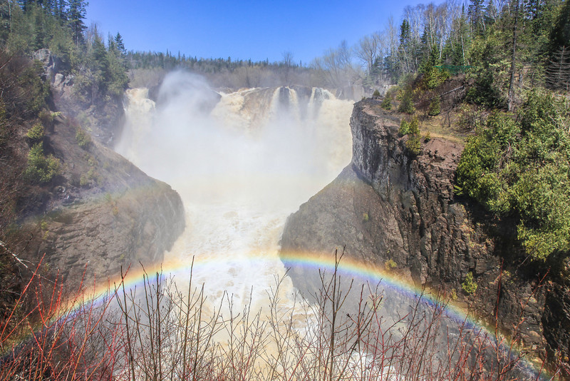 "THURSDAY, MAY 23, 2013<br /> <br /> PIGEON RIVER 3164<br /> <br /> ""Rainbow at High Falls on the Pigeon River""<br /> <br /> Camera: Canon EOS 5D Mark II<br /> Lens: Canon EF 24-105mm<br /> Focal length: 24mm<br /> Shutter speed: 1/250 <br /> Aperture: f/16<br /> ISO: 400"