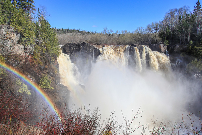 "THURSDAY, MAY 23, 2013<br /> <br /> PIGEON RIVER 3136<br /> <br /> ""Rainbow at High Falls on the Pigeon River""<br /> <br /> Camera: Canon EOS 5D Mark II<br /> Lens: Canon EF 17-40mm<br /> Focal length: 21mm<br /> Shutter speed: 1/250<br /> Aperture: f/16<br /> ISO: 400"