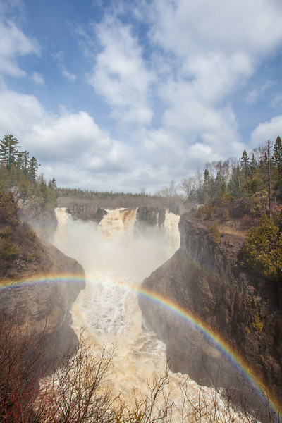 "FRIDAY, MAY 23, 2014<br /> <br /> PIGEON RIVER 5411<br /> <br /> ""Double Rainbow at High Falls""<br /> <br /> The forecast is looking good for some sunny weather this weekend so why not head up the shore and enjoy the waterfalls in all their glory? Here is a photo of High Falls on the Pigeon River taken just a couple of days ago at Grand Portage State Park. The river continues to run at a high water level and on sunny days this means that there are beautiful rainbows at the falls! Come on up and see for yourself!<br /> <br /> Camera: Canon EOS 5D Mark II<br /> Lens: Canon EF 17-40mm<br /> Focal length: 17mm<br /> Shutter speed: 1/500<br /> Aperture: f/16<br /> ISO: 400"
