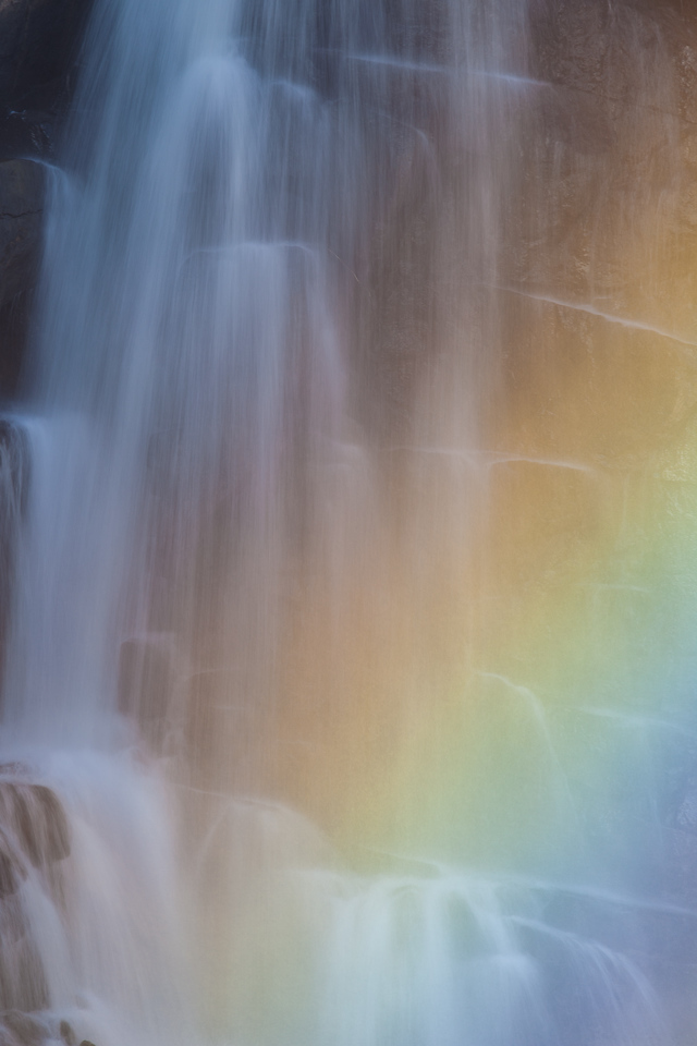 "SUNDAY, NOVEMBER 2, 2014<br /> <br /> PIGEON RIVER 0619<br /> <br /> ""November rainbow at High Falls""<br /> <br /> Yesterday I spent some time at High Falls in Grand Portage State Park photographing a beautiful rainbow in front of the left side of the falls.  This time of year the waterfall is in full sunlight for a very short period of time.  I was there at 11:30 AM and the left side of the falls was already in shadow.  Normally I wouldn't like that in the middle of the day, but this time I did because it allowed me to make some exposures at longer shutter speeds and blur the motion of the water.  Even though the waterfall was in the shade there was direct sunlight between myself and the falls.  Every now and then the wind would blow just right, pushing the mist through that sunlight and back towards the falling water, adding this rainbow to the scene.  It sure was a beautiful and fun scene to photograph!  <br /> <br /> Camera: Canon EOS 5D Mark II<br /> Lens: Tamron SP 150-600mm<br /> Focal length: 450mm<br /> Shutter speed: 1/6<br /> Aperture: f/22<br /> ISO: 50"