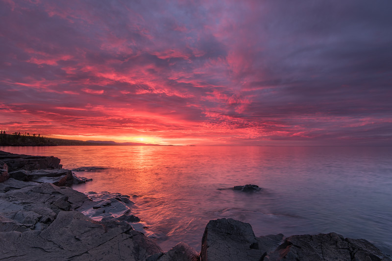"""SUNDAY, JUNE 28, 2015<br /> <br /> SUPERIOR SUMMER 5746<br /> <br /> """"North Shore Morning""""<br /> <br /> It was a pretty dull morning for shooting sunrise over Lake Superior today, lots of clouds and just a gray sky.  So, here is a sunrise shot from last week to provide a little sunshine and color for your day!<br /> <br /> Camera: Nikon D750<br /> Lens: Nikon 16-35mm f/4<br /> Focal length: 16mm<br /> Shutter speed: 1 second<br /> Aperture: f/16<br /> ISO: 100"""