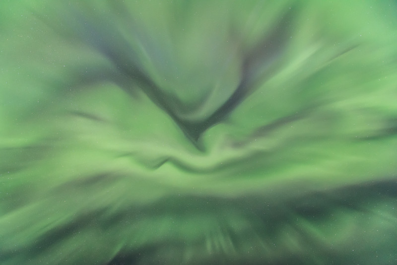 "WEDNESDAY, JUNE 24, 2015<br /> <br /> AURORA 6161<br /> <br /> ""Imaginarium""<br /> <br /> <br /> This is what the sky looked like directly overhead during the geomagnetic storm in the early morning hours of June 23rd.  The lights were going so strongly straight up in the sky for so long that I was really appreciating the tilting LCD screen of my Nikon D750 camera!  I had my camera pointed straight up for 15 to 20 minutes and during that time the lights were changing constantly as I made one exposure after another.  <br /> <br /> In a sequence of over 100 photos pointed at the same spot in the sky, I ended up with over 100 completely unique shots.  The patterns and shapes were different in each image, despite there only being a second or two between each shot.  That's how fast the lights were changing.  <br /> <br /> It was a mind-blowing experience to witness such a strong aurora storm.  I believe these types of images really spark the imagination.  For example, when I first viewed this photo I immediately saw a large bird swooping down from the top of the photo.  You might see something completely different.  I'd love to hear how your imagination speaks to you when you view this image!<br /> <br /> Camera: Nikon D750<br /> Lens: Nikon 14-24mm f/2.8<br /> Focal length: 14mm<br /> Shutter speed: 5 seconds<br /> Aperture: f/2.8<br /> ISO: 3200"