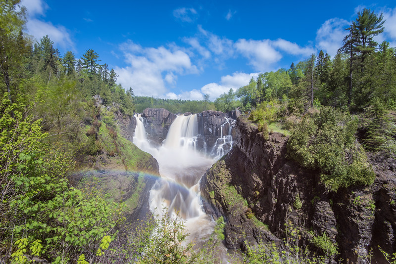 "SATURDAY, JUNE 6, 2015<br /> <br /> PIGEON RIVER 5633<br /> <br /> ""A Glorious Day at High Falls!""<br /> <br /> High Falls at Grand Portage State Park is looking pretty spectacular today!  Come on up and check it out for yourself!<br /> <br /> Camera: Nikon D750<br /> Lens: Nikon 16-35mm f/4<br /> Focal length: 16mm<br /> Shutter speed: 2 seconds<br /> Aperture: f/22<br /> ISO: 100"