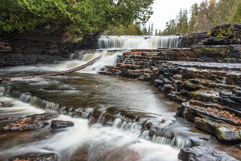 """TUESDAY, OCTOBER 27, 2015<br /> <br /> ONTARIO 3969<br /> <br /> """"Little Waterfall, Wolf River""""<br /> <br /> Another waterfall on the Wolf River in Ontario, Canada.  I loved the terraced shape of this waterfall.  It sure is a beautiful river and I can't wait to go back there and explore more of it!<br /> <br /> Camera: Nikon D750<br /> Lens: Nikon 24-120mm f/4<br /> Focal length: 38mm<br /> Shutter speed: 1.3 seconds<br /> Aperture: f/16<br /> ISO: 100"""