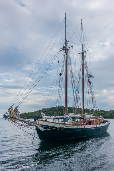 "WEDNESDAY, AUGUST 13, 2016<br /> <br /> SUPERIOR BOATS 01899<br /> <br /> The sailing vessel ""Mist of Avalon"" visiting Grand Portage Bay for Rendezvous Days 2016.<br /> <br /> Camera: Sony DSC-RX100M3<br /> Focal length: 26mm<br /> Shutter speed: 1/800<br /> Aperture: f/4<br /> ISO: 200"