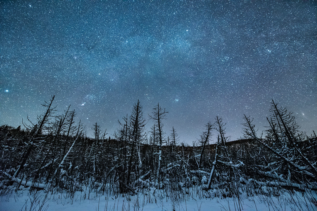 "MONDAY, DECEMBER 26, 2016<br /> <br /> MILKY WAY 1940<br /> <br /> ""A Magical December Night""<br /> <br /> I hope everyone had a wonderful Christmas!  Here's another photo of a recent night sky in northeast Minnesota.  For some reason this photo just seems like a good Christmas photo to me.  It sure was a beautiful night to be out in the woods underneath such a glorious star-filled sky!<br /> <br /> Camera: Nikon D750<br /> Lens: Nikon 14-24mm f/2.8<br /> Focal length: 14mm<br /> Shutter speed: 25 seconds<br /> Aperture: f/2.8<br /> ISO: 6400"