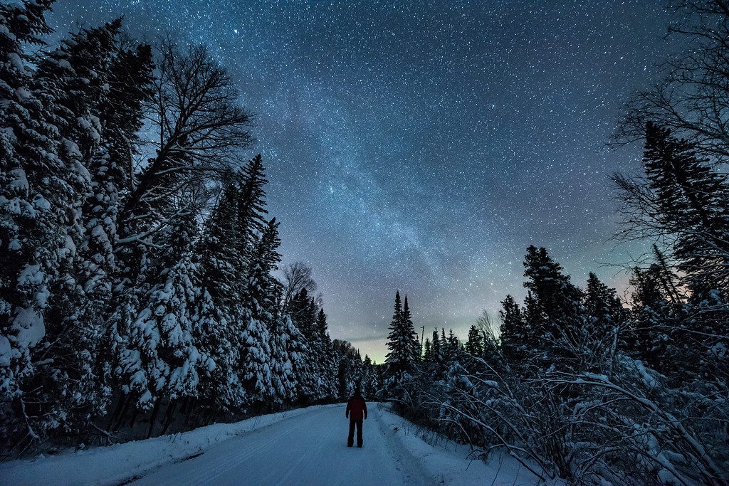 "SATURDAY, DECEMBER 24, 2016<br /> <br /> MILKY WAY 1928<br /> <br /> ""December Dreams""<br /> <br /> The winter night sky sure is a thing of beauty!  On clear, cold nights you can see more stars than you ever thought possible.  Especially in a place like northern Minnesota, where light pollution is thankfully still pretty minimal.  This photo was made along Old Highway 61 in Grand Portage, MN in the early morning hours of December 23, 2016.<br /> <br /> Camera: Nikon D750<br /> Lens: Nikon 14-24mm f/2.8<br /> Focal length: 14mm<br /> Shutter speed: 25 seconds<br /> Aperture: f/2.8<br /> ISO: 6400"