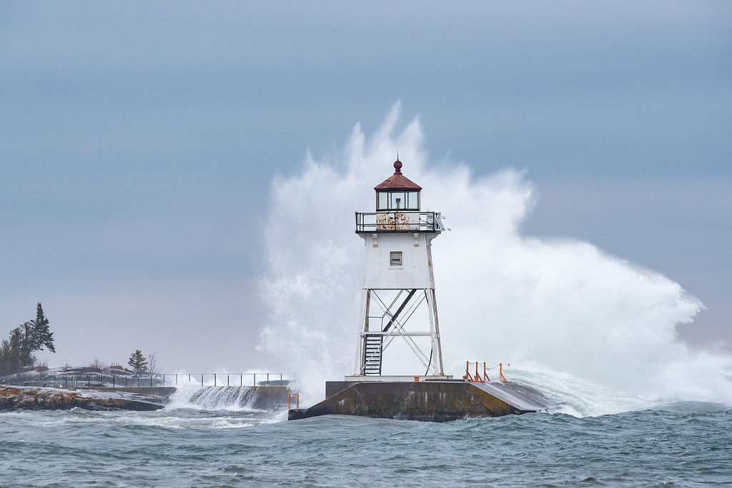 "THURSDAY, JANUARY 14, 2016<br /> <br /> SUPERIOR WAVES 6269<br /> <br /> ""Winter Wave""<br /> <br /> Here's one more big wave shot from Grand Marais, MN that I'd like to share with you.  I still can't believe how much fun I had making photographs of these waves!<br /> <br /> Camera: Nikon D750<br /> Lens: Tamron SP 150-600mm<br /> Focal length: 320mm<br /> Shutter speed: 1/1250<br /> Aperture: f/10<br /> ISO: 1600"